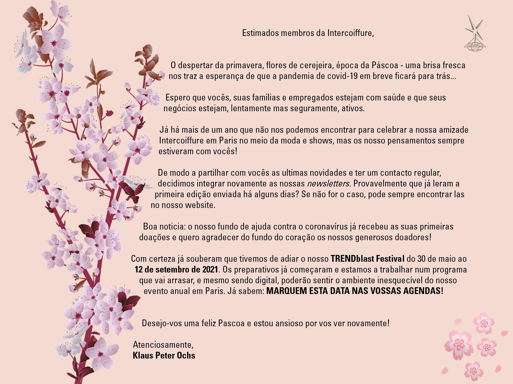Blossom flower letter from Klaus Peter Ochs